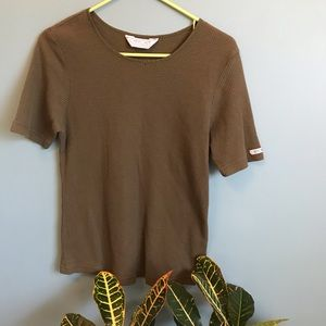 Vintage Army Green Thermal Tee